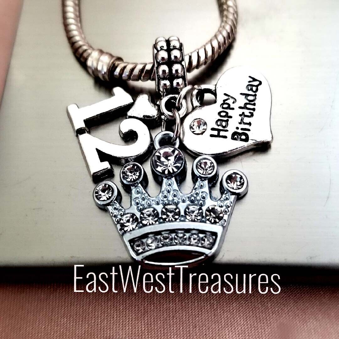 Number 12 12th birthday Charm Bracelet Necklace Jewelry Gift