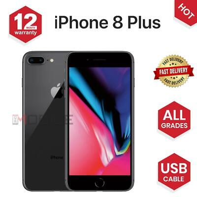 Apple iPhone 8 PLUS - 64GB/256GB -Gold/Black/ Silver - UNLOCKED - Various Grades
