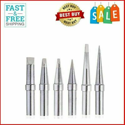 6pcs Replacement Tips Weller Et Soldering Iron Tips For Wes5150 Wesd51 We1010na