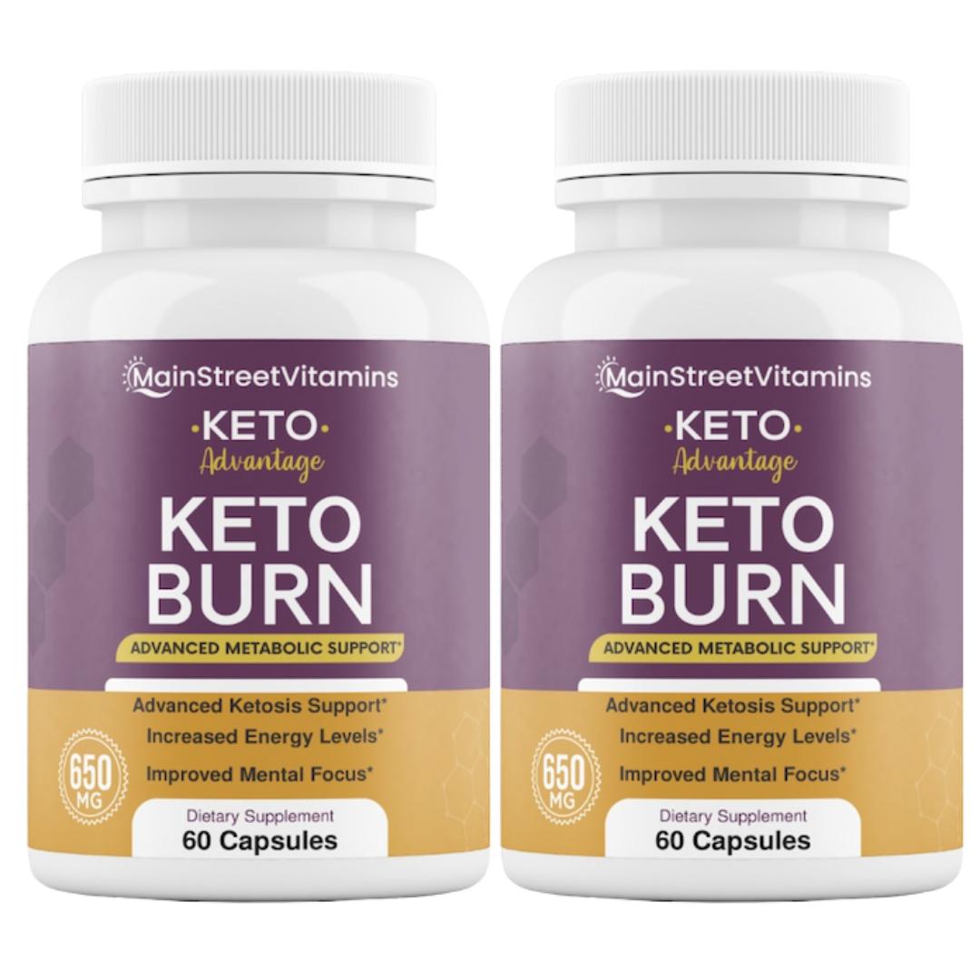 2 Keto Advantage Keto Burn - 60 Capsules -  120 Capsules -2 Bottles