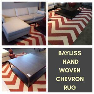 Bayliss Handwoven Wool Chevron Rug New