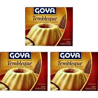 Goya Tembleque Coconut Flavored Pudding 3.5 oz  Pack of 3