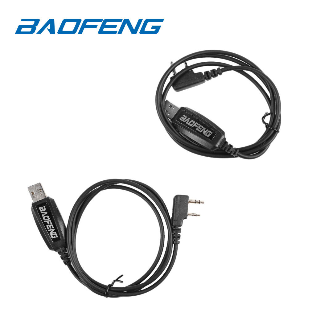 2x USB Programming Cable for Baofeng UV-5R UV-82L GT-1 GT