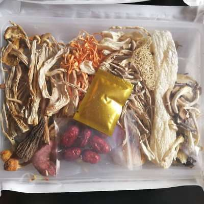 (Wild Fresh Fungus Dreid Mushroom Bag Mixed 12 Varieties Healthy Tasty Soup Food )