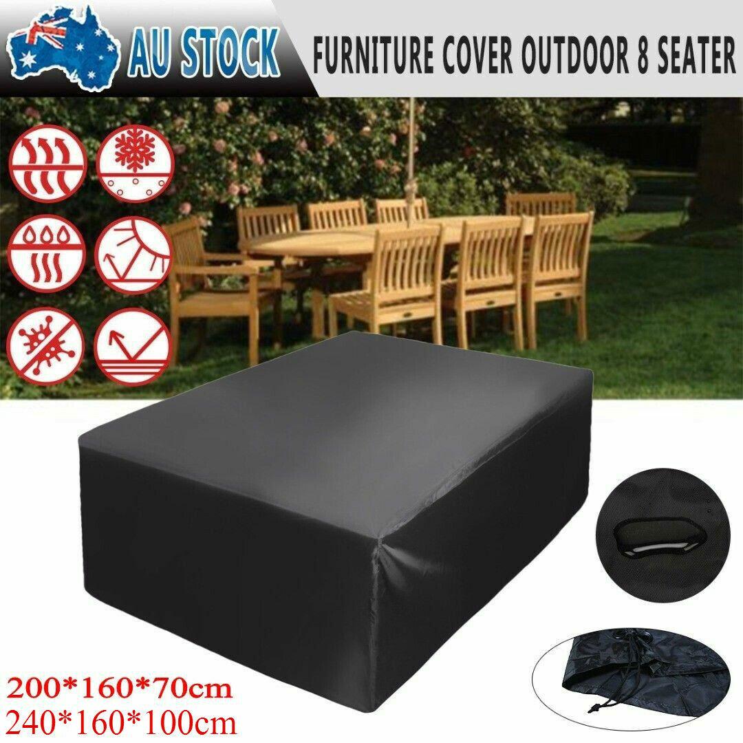 Garden Furniture - 11Sizes Rain Sun Protector Patio Outdoor Furniture Cover Set Garden Setting Seat