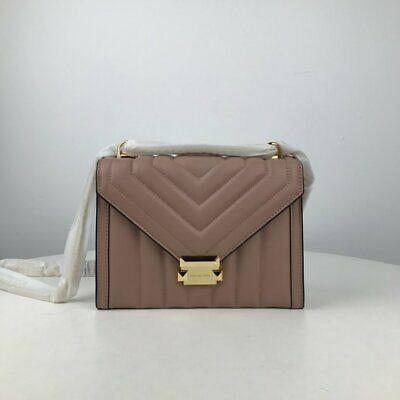 MICHAEL KORS WHITNEY QUILTED LARGE LEATHER SHOULDER BAG Fawn