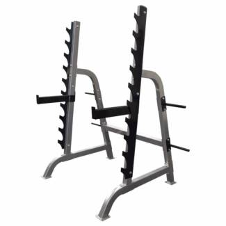 Squat Gun Rack 400KG Rating with 2 Spotters Heavy Duty NEW