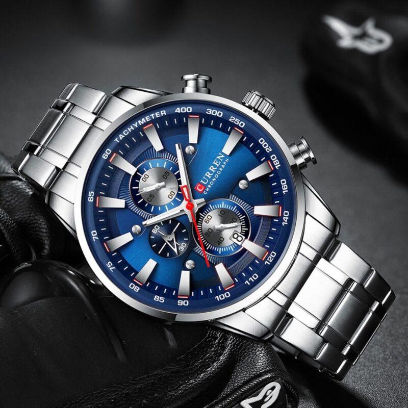 CURREN Watches Mens Stainless Steel Band Quartz Wristwatch C