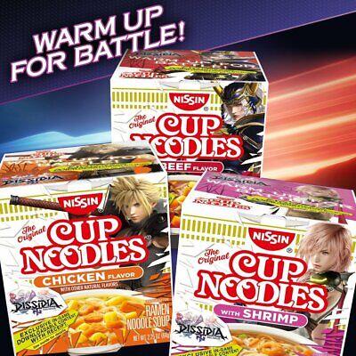 Nissin Cup of Noodles, Chicken-Shrimp & Beef Flavor/ Top Ramen or 1 Cup of Soup Beef Flavor Ramen Noodle Soup