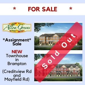 New Build Townhouse for Sale in Prime Brampton Location!