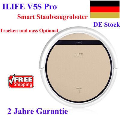 ILIFE V5S Pro Smart Staubsauger Roboter Schnurlos Trocken&Nass Optionale
