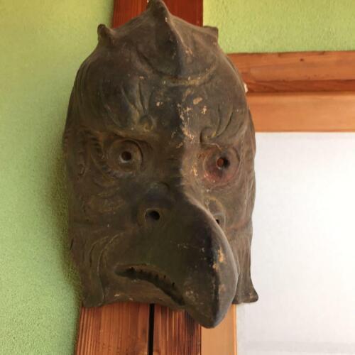 Japan Karura Gigaku mask craft man made Omen Noh Kabuki braggart Edo period