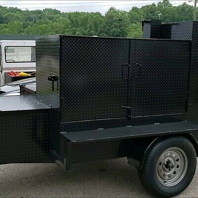 Mega Chicken Flipper With Storage Bbq Smoker Grill Trailer Food Truck Catering
