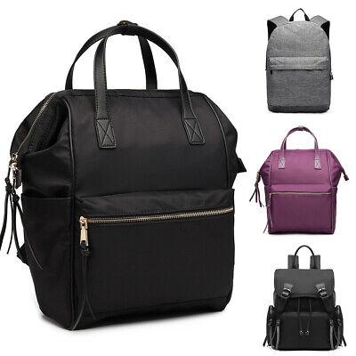 Unisex School Backpack Shoulder Laptop Bag Nylon/Canvas Large Rucksack