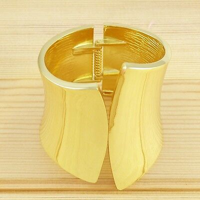 Fashion Jewelry Real Gold Plated Fantastic Exotic Cuff Punk Bracelet Bangle on Rummage