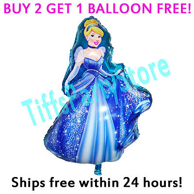 2-Sided Cinderella Mylar Foil Balloon Birthday Party Supplies Disney Princess