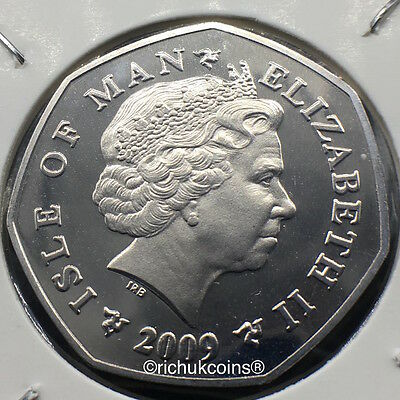 2009 IOM Xmas Diamond Finish 50p coin