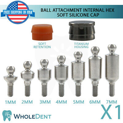 Ball Attachment Abutment Soft Silicone Cap Dental Implant Internal Hex