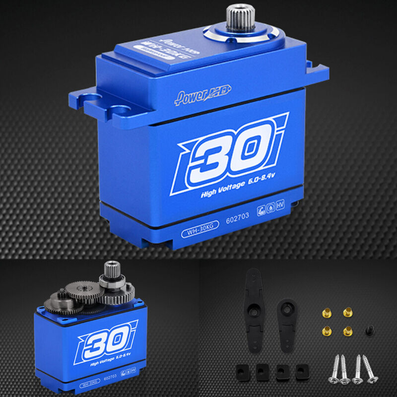 POWER HD WH-30KG Waterproof 416.6 oz / .11 Titanium Gear Digital Servo