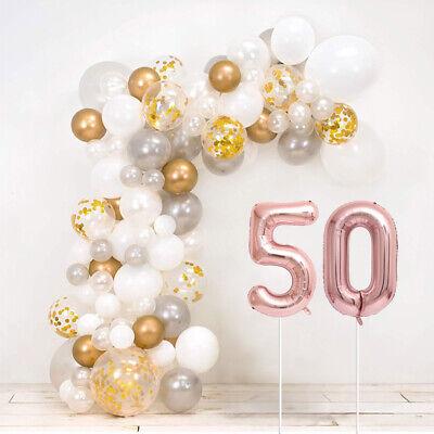 50th Aniversario Bodas de Oro Bricolaje Globo Arco Kit - Incluye 120...