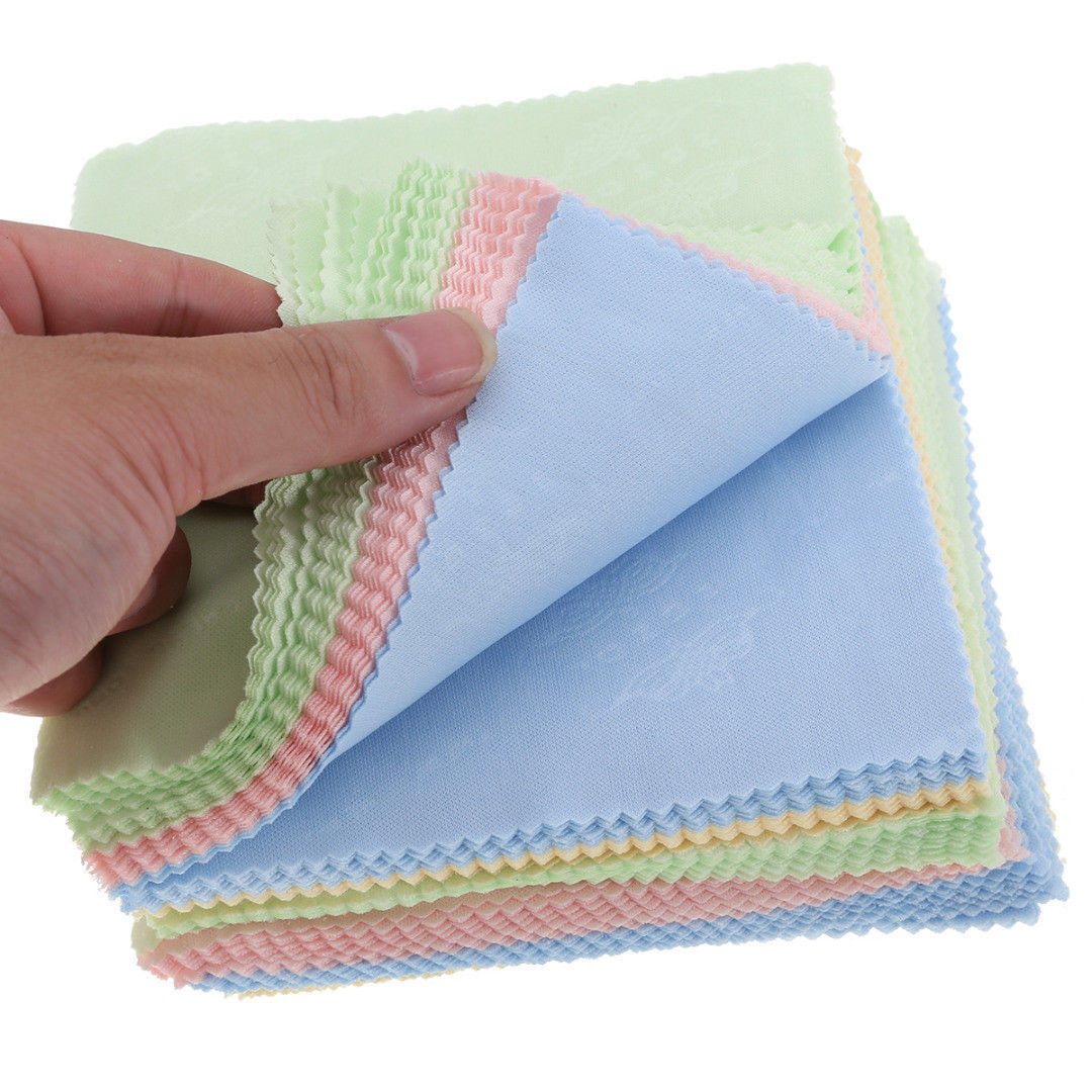 10Pcs//Pack Microfiber Cleaning Cloth For Camera Lens Glasses TV Phone LCD Screen