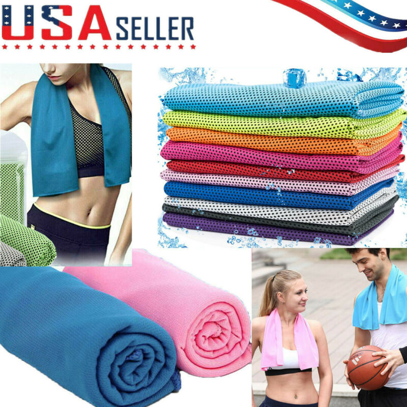10 Pack Cooling Towel Ice Towel Neck Wrap For Sports Running Jogging Gym Chilly