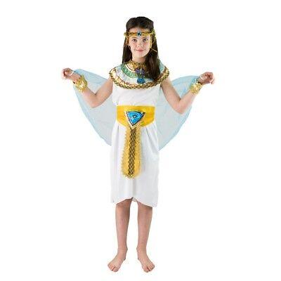 Ägyptischer Pharao Königin Cleopatra Kostüm für Kinder (4-6 Jahre & 7-9 Jahre)