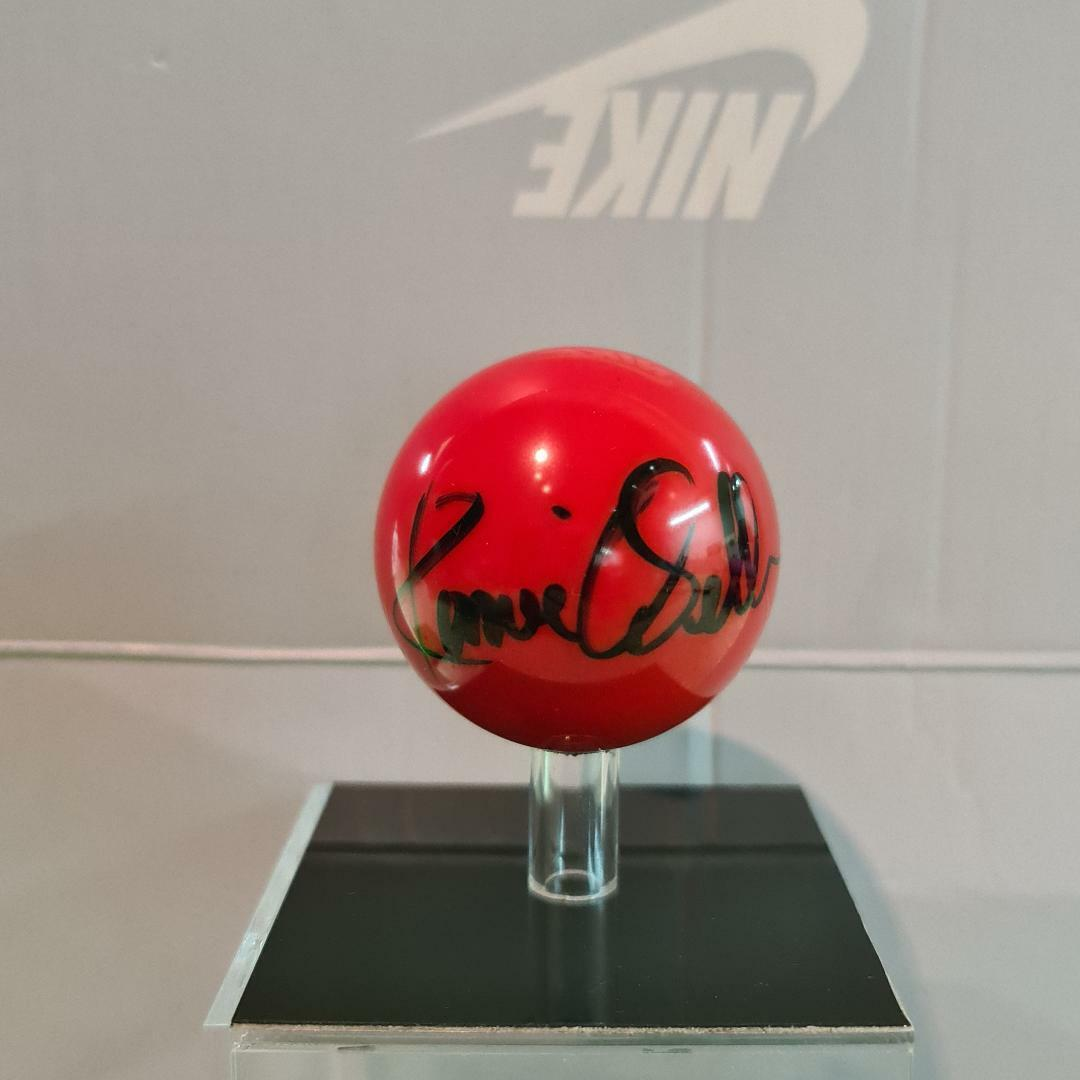 Ronnie O'Sullivan Signed WORLD CHAMPION Snooker RED Ball Autograph