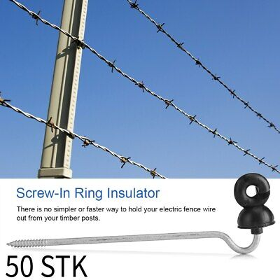 VOSS.farming Electric Fence 30x Metal Post Oval Shape with Ring Insulator at Top