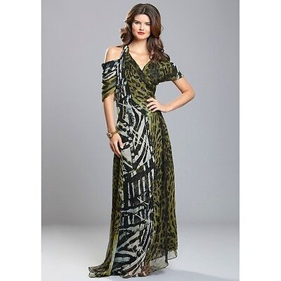 New $2490 Malandrino LUX SILK occasion evening party Maxi dress 40 Italy 6/8 US