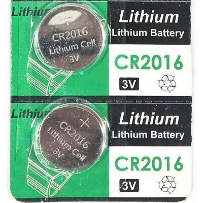CR2016 3V cc Lithium Coin Cell Battery Button Batteries CR 2016 DL BR 2Pcs