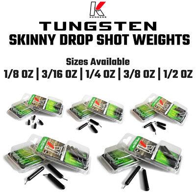 Tungsten Skinny Drop Shot Weights - Bass Fishing, Finesse Fishing FREE SHIPPING! ()