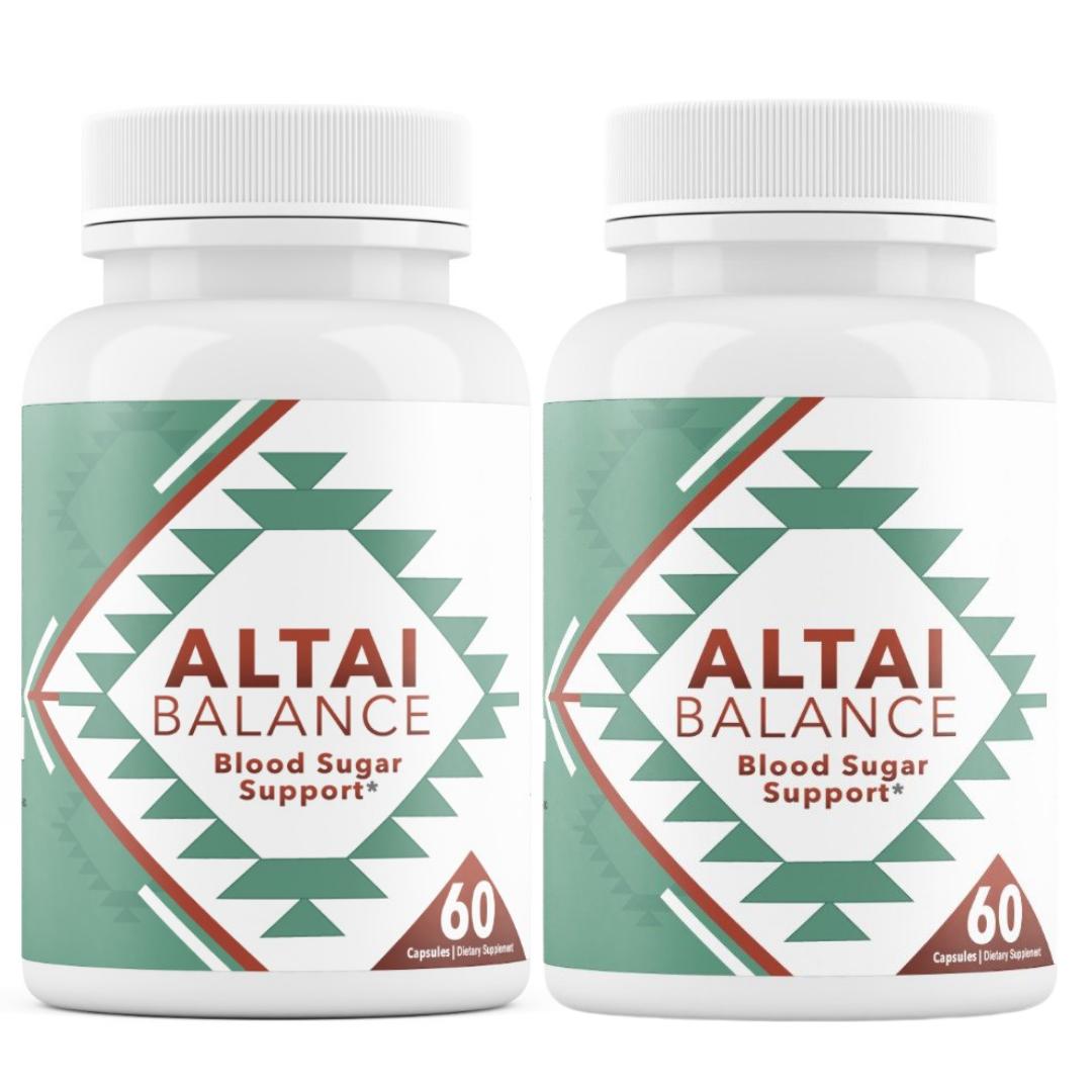 2 Bottles Altai Balance Supports Blood Sugar, Glucose Metabolism 60 Capsules