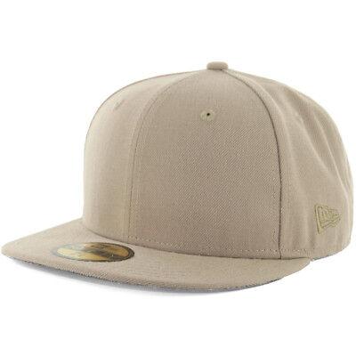 New Era Plain Tonal 59Fifty Fitted Hat (Khaki) Men's Blank Cap