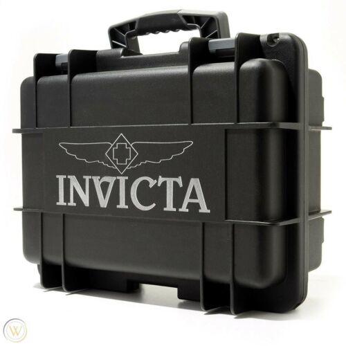 ➤➤NEW Invicta 8 Slots Impact Diver Black & Grey Impact Resistant Collector Case➤