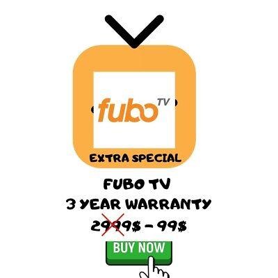 Fubo TV + Extra   Lifetime Warranty   Instant