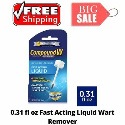 Compound W Fast Acting Effective Liquid Salicylic Acid Wart Remover 0.31 Fl Oz