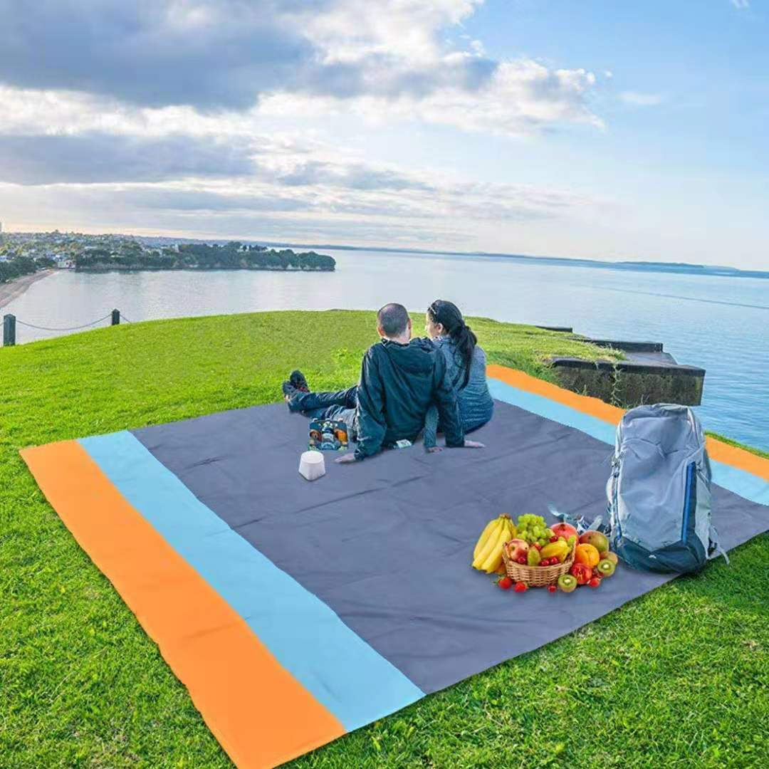 "Sandfree Beach Blanket, 83""x 79"" Waterproof Beach Mat Outdoo"