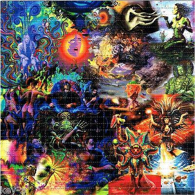 INSANE -  BLOTTER ART perforated psychedelic LSD Acid art paper