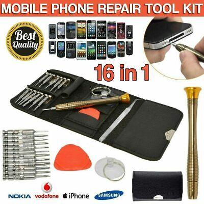16 in 1 Mobile Phone Repair Tool Kit Screwdriver Set For IPhone 5 6 7 8 X IPad