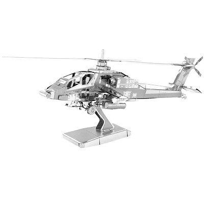 AH-64 Apache 3D-Metall-Bausatz Silver-Edition Metal Earth 1083