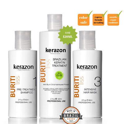 Brazilian Hair Keratin Treatment Complex Blowout 120ml/4oz KIT Keratina