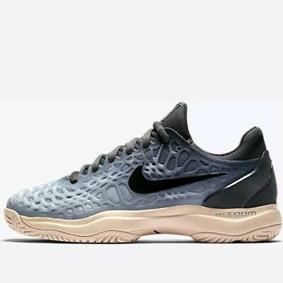 newest 291bb b2961 Nike Air Zoom Cage 3 HC Women's Sneakers Size 6 Tennis Shoes Dark Grey