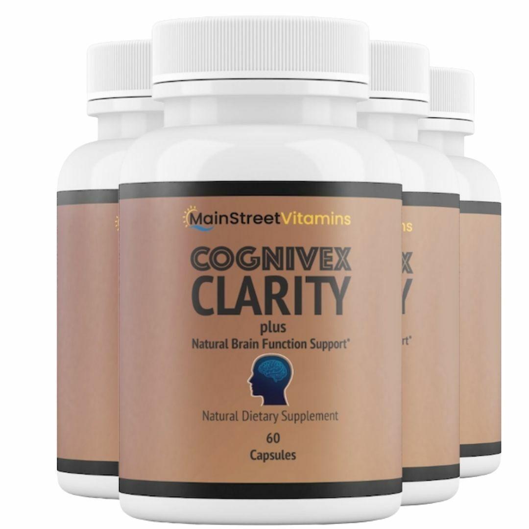 4 Bottles Cognivex Clarity Plus Brain Health - Advanced IQ Brain - 60 Capsules