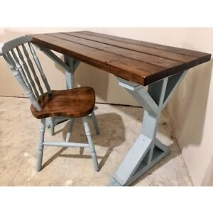 Homemade Table with Chair