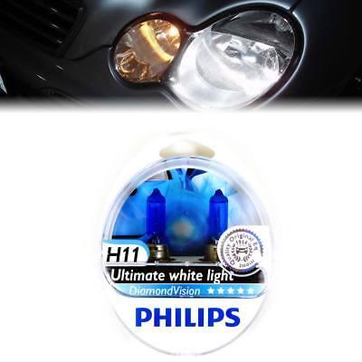 H11 Super White 5000K Made in Germany Philips Fog Light Bulbs