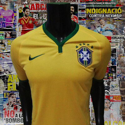 e8e752cac Nike Authentic Brazil Brasil home soccer jersey world cup 2014 size M