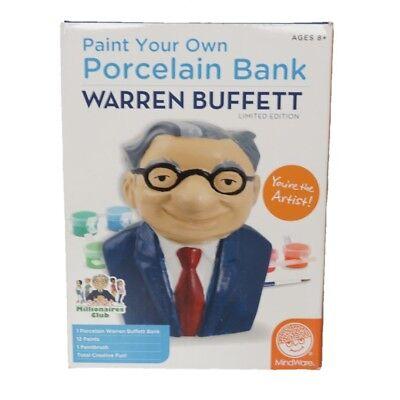 New  Rare Warren Buffett Berkshire Hathaway Diy Porcelain Savings Bank Kit Brk