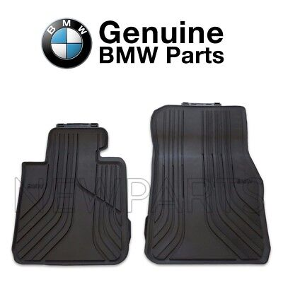 For BMW F22 2 Series Black Front Rubber Floor Mats All Weather 2pcs Genuine