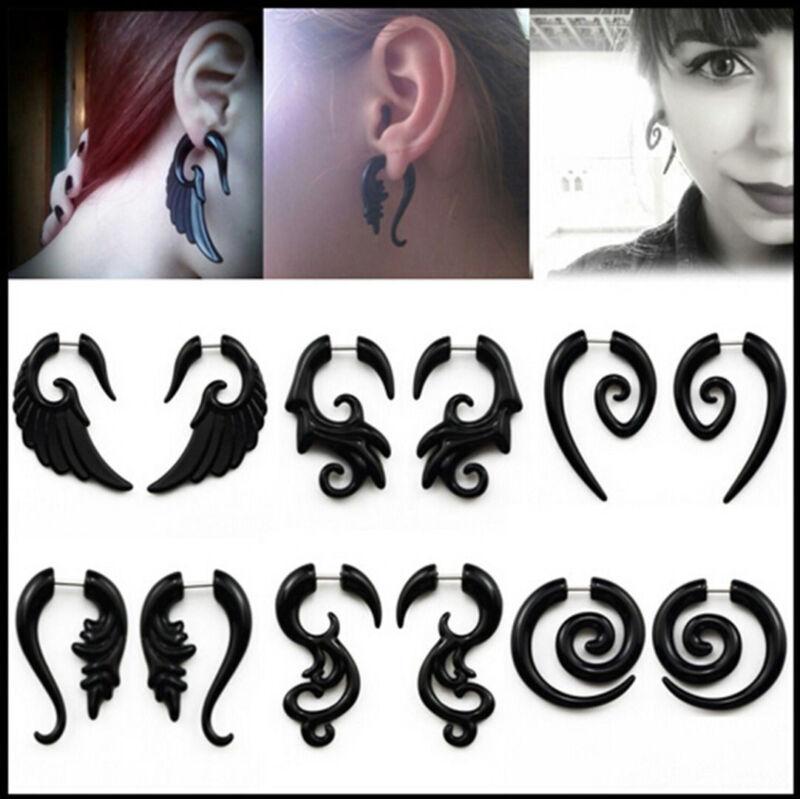 Acrylic Spiral Gauge Ear Plug Fake Cheater Stretcher Flesh E
